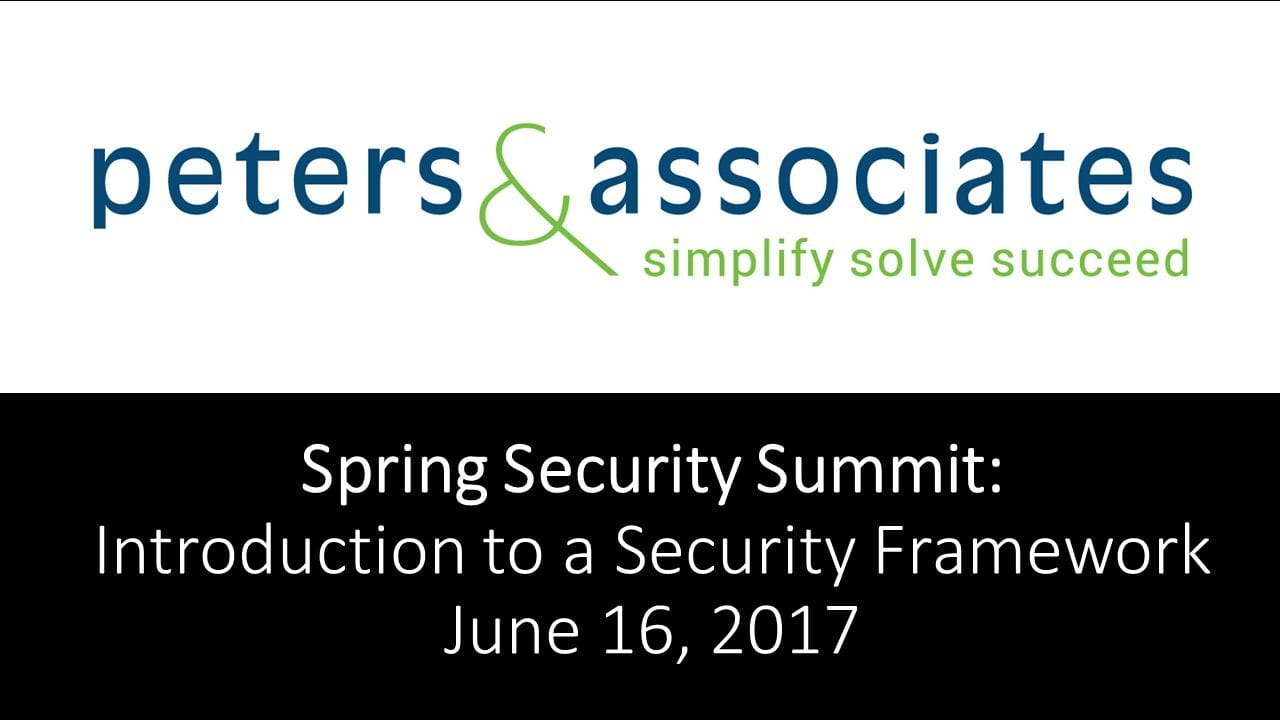 Spring Security Summit Recap