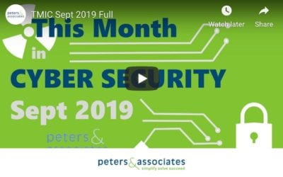 This Month in Cyber Security: September 2019 (2:18)