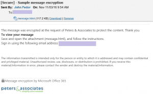 Office 365 Message Encryption (OME)