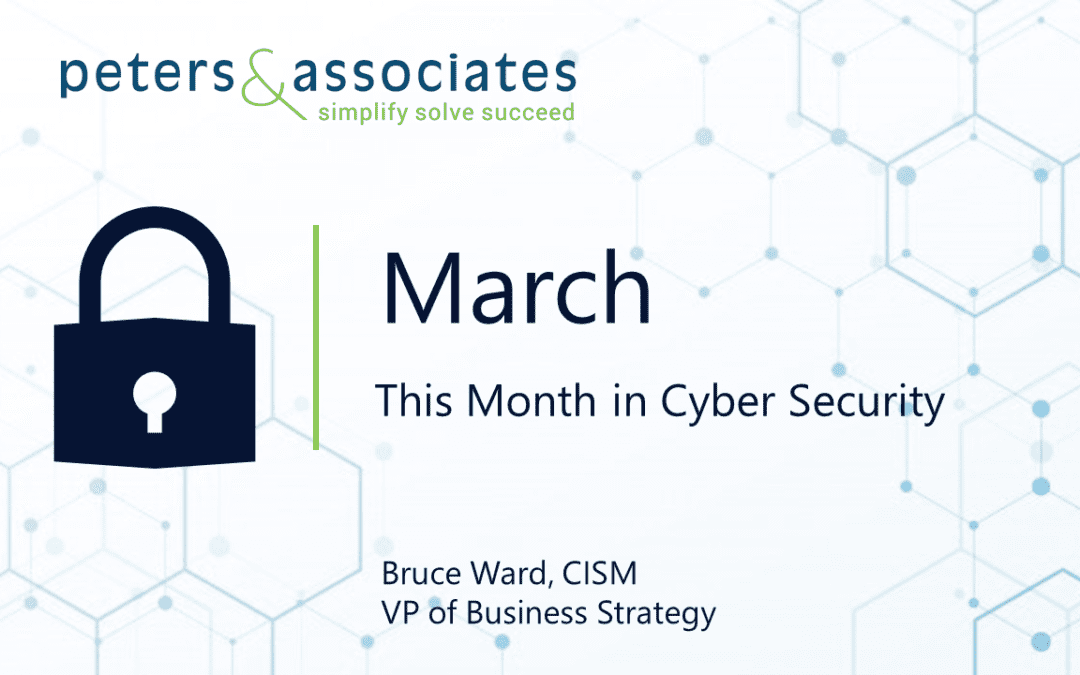 This Month in Cyber Security: March 2020 (2:12)